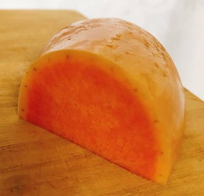 坂ノ途中お試しセット野菜セット宅配のバターナッツカボチャ断面図