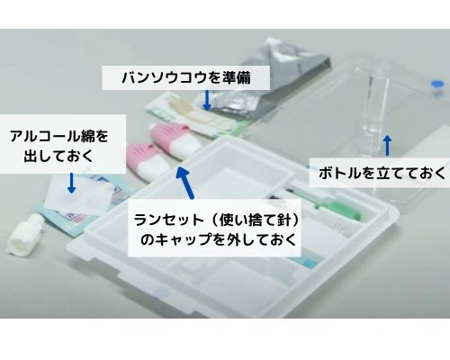 デメカル血液検査キットで失敗せず採血するために、まずは必要なキットを準備しましょう