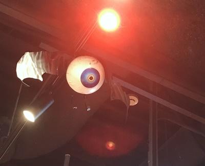 KOWAiiCAFE天井の目玉蝙蝠